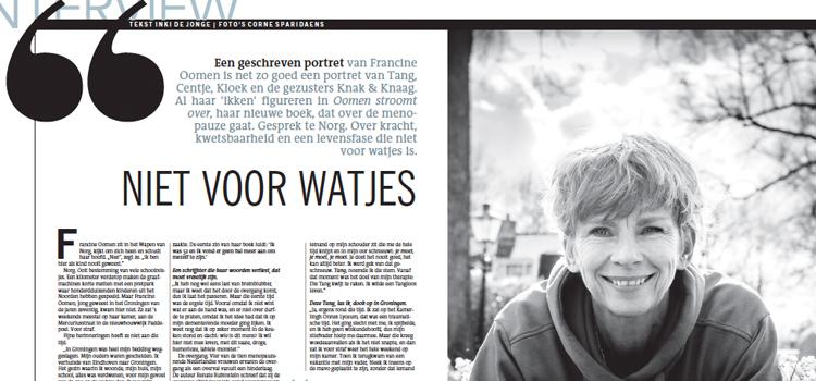 Interview in Dagblad van het Noorden 13/05